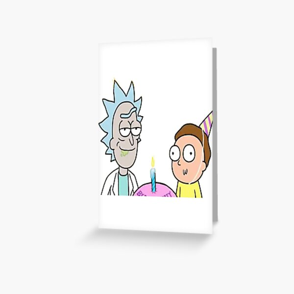 birthday doc and Marty Greeting Card