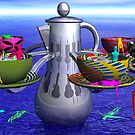 """Exceeding """"The Tea Cup Ride"""" speed limit. by Ann Morgan"""