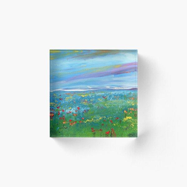 Meadow Drops Acrylic Block