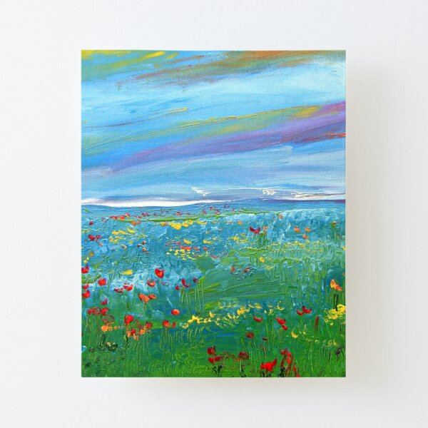 Meadow Drops Canvas Mounted Print