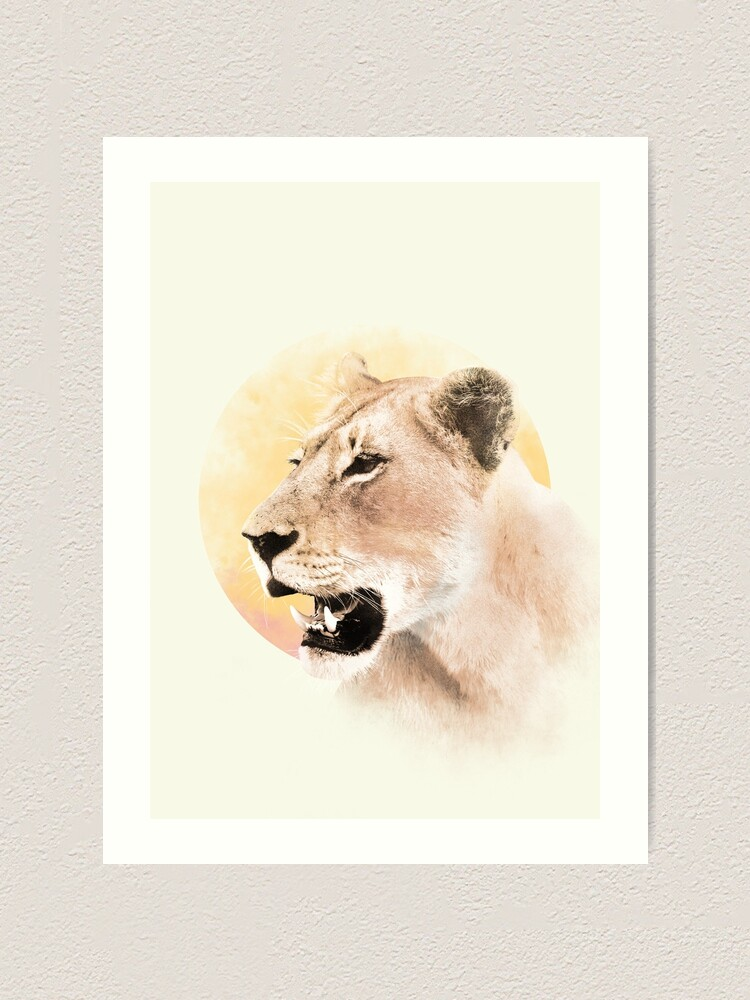 Alternate view of Lioness Art Print