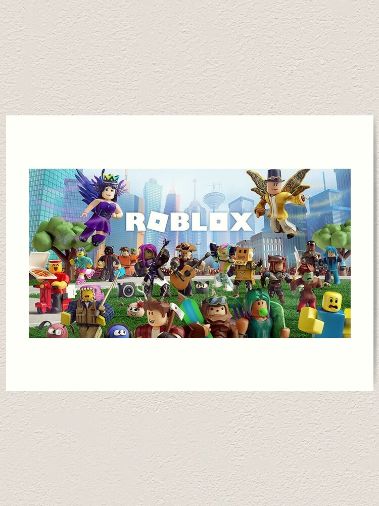 All Togheter With Roblox Art Print By Best5trading Redbubble