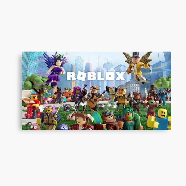 All togheter with Roblox Canvas Print