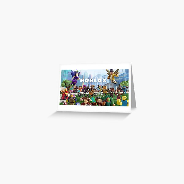 All togheter with Roblox Greeting Card