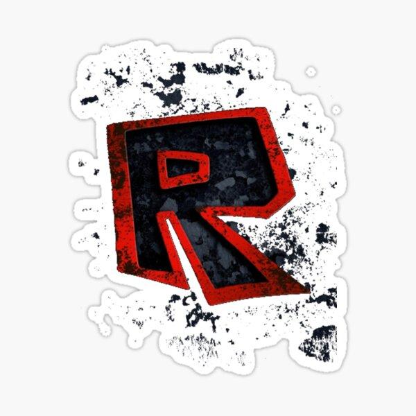Roblox Logo Black Stickers Redbubble