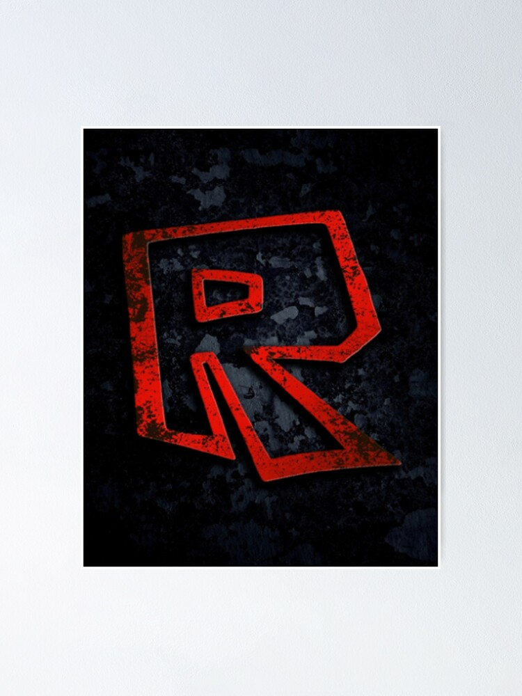 Roblox Logo On Black Poster By Best5trading Redbubble