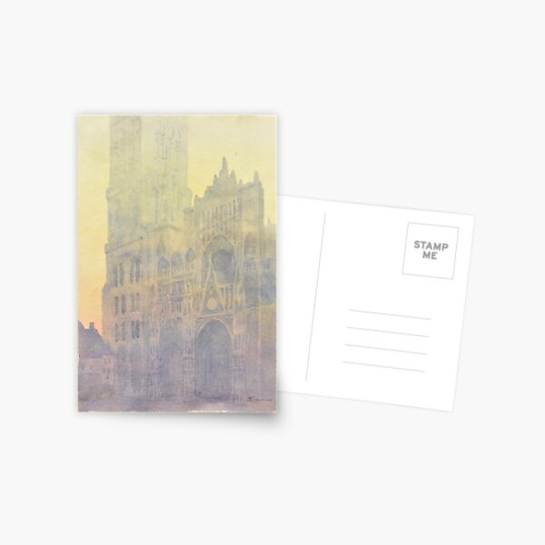 Rouen Cathedral, after Monet Postcard