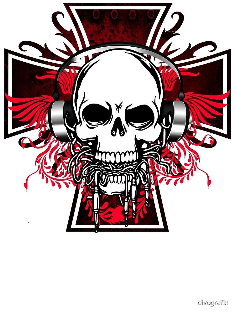 Skull DJ by divografix