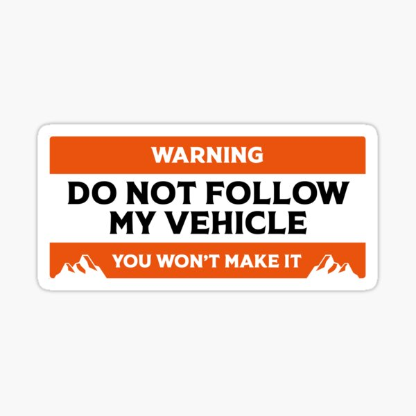 Ne pas suivre mon véhicule Offroad Rover Sticker