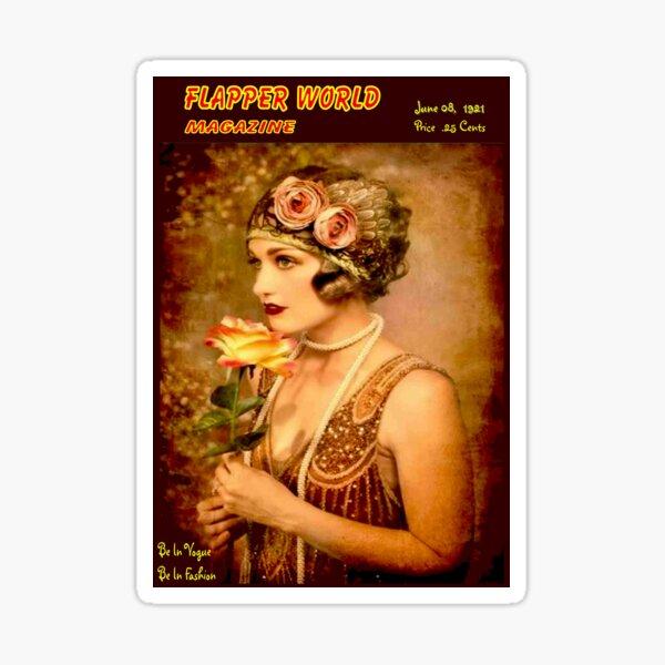 FLAPPER WORLD : Vintage 1921 Magazine Advertising Print Sticker