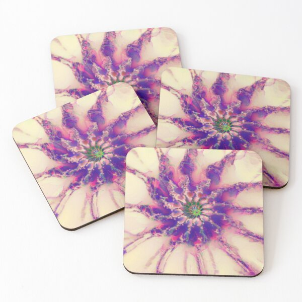 Fractalize abstraction Coasters (Set of 4)