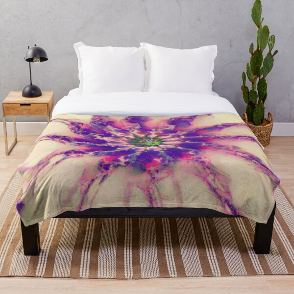 Fractalize abstraction Throw Blanket