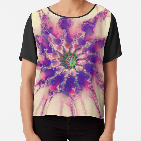 Fractalize abstraction Chiffon Top