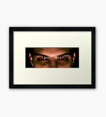 Eyes Are Catching Fire Framed Print