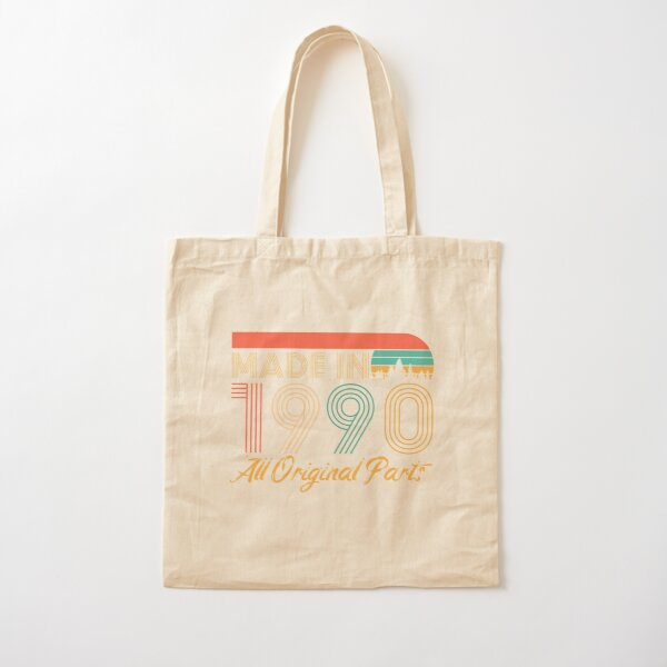 30th Birthday Gift Tote Shopping Cotton Bag Ancient 1990 Matured To Perfection