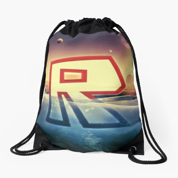 Roblox Log Gold Drawstring Bag
