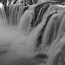 Shoshone Falls In B&W by Nick Boren
