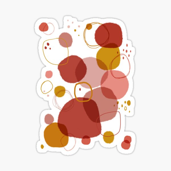 Spots and Circles. Abstract art. Digital Art Sticker