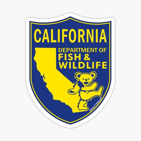 California Fish & Wildlife Deadheads Unite! Sticker