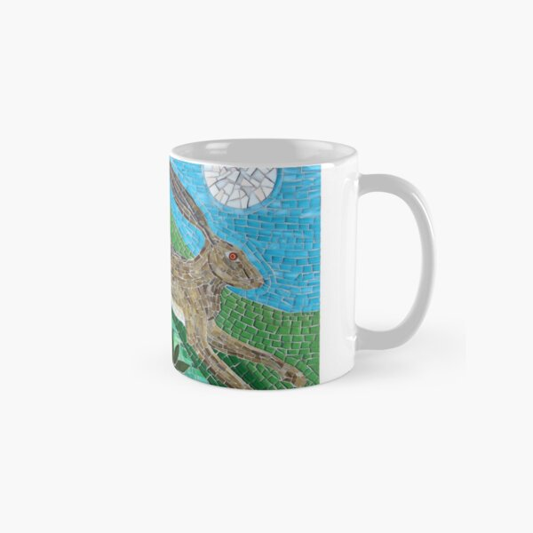 Leaping Hare and Moon Mosaic by Sue Kershaw Classic Mug