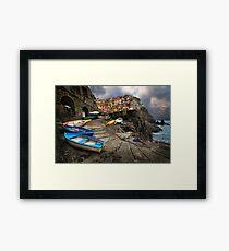 Row Boats. Framed Print
