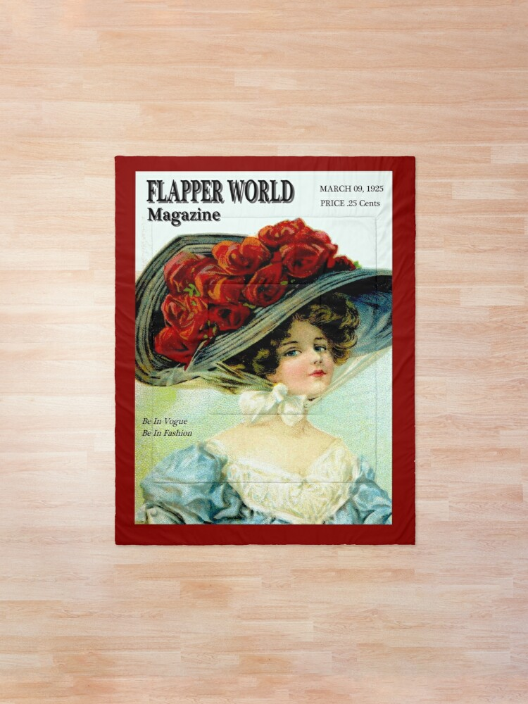 Alternate view of  FLAPPER WORLD : Vintage 1925 Fashion Magazine Advertising Print Comforter