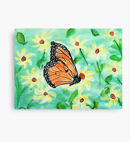At last I made a butterfly,,,watercolor Canvas Print