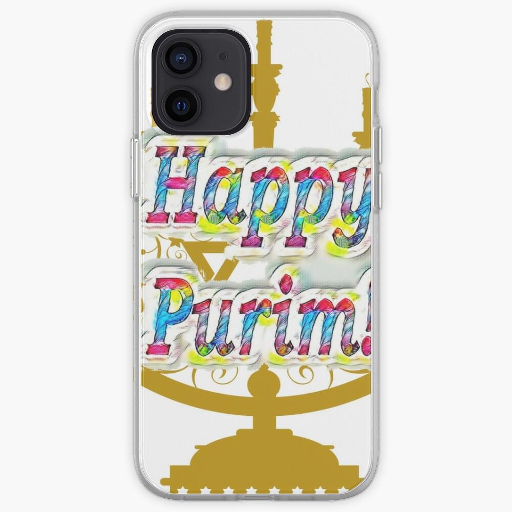 Purim, Jews, King Ahasuerus, Queen Vashti, Jewish girl, Esther, antisemitic Haman, Mordechai, feast iPhone Case