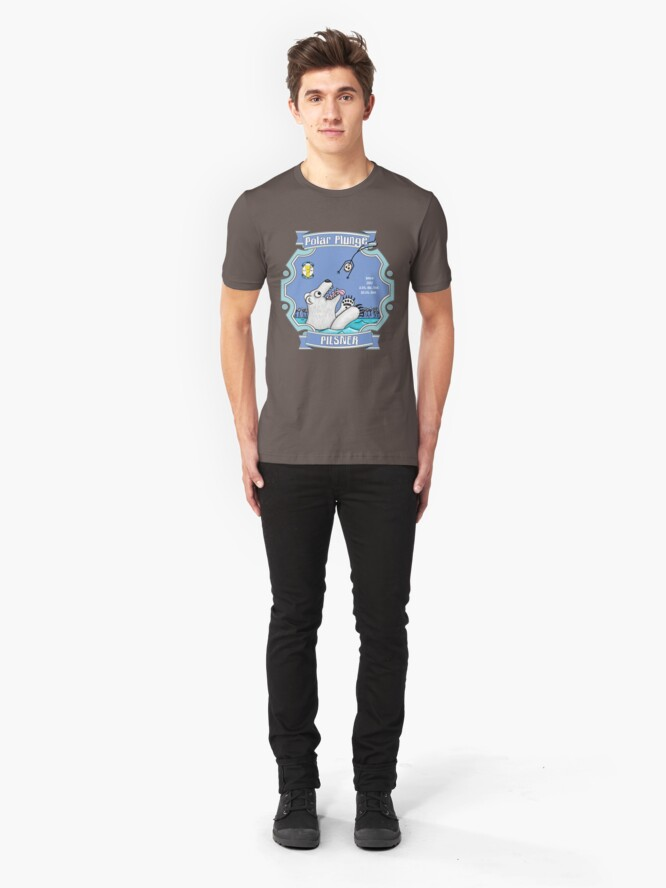 Alternate view of Polar Plunge Pilsner Slim Fit T-Shirt