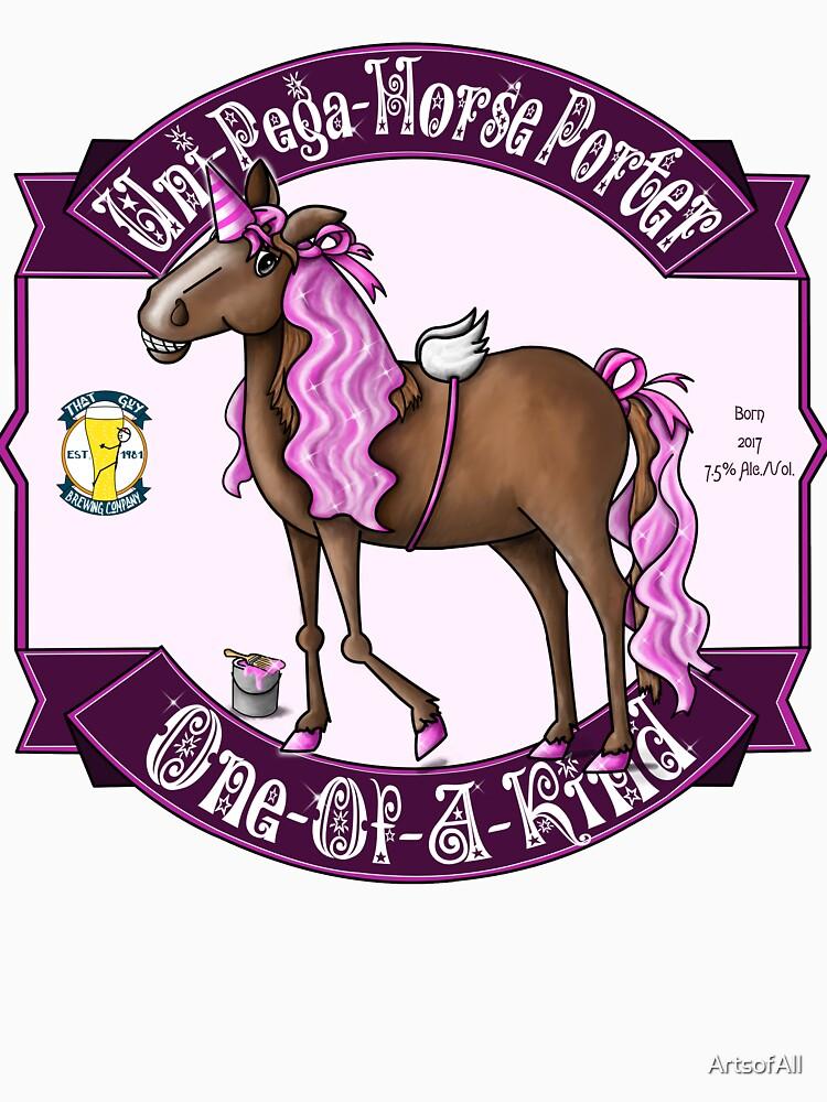 Uni-Pega-Horse Porter by ArtsofAll