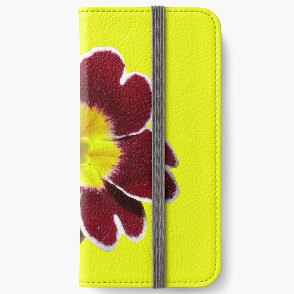 Gold Lace Primula - Flower Power Collection iPhone Wallet