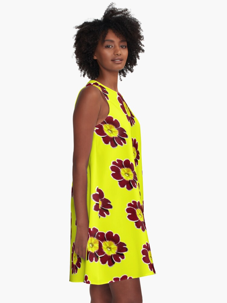 Alternate view of Gold Lace Primula - Flower Power Collection A-Line Dress