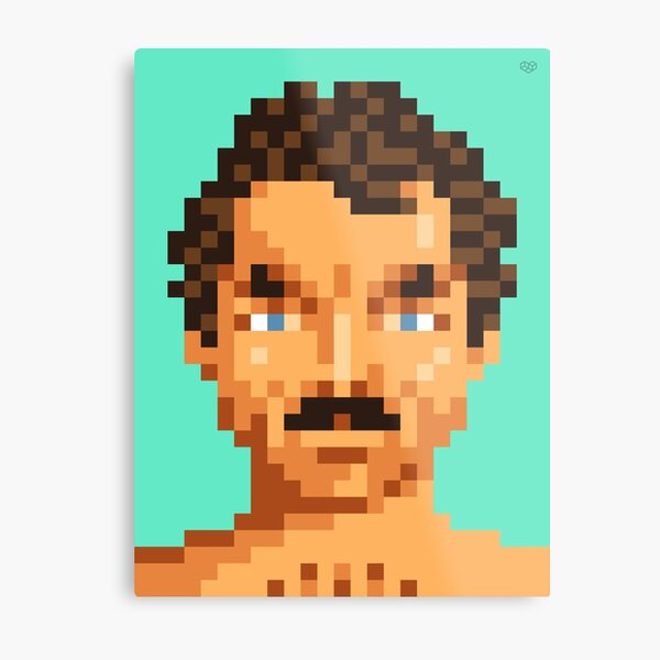 His mustache Metal Print