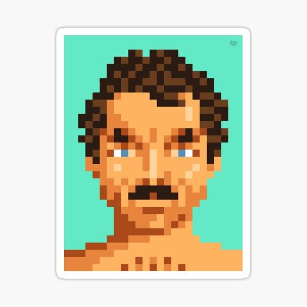 His mustache Sticker