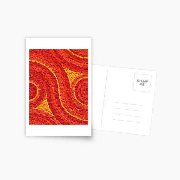 Mosaic art by Sue Kershaw Feeling the Heat Postcard