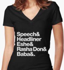 Homage to Speech & Headliner of Arrested Development Women's Fitted V-Neck T-Shirt