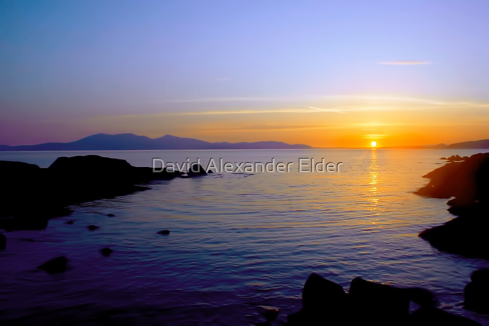 Sunset Over Arran by David Alexander Elder