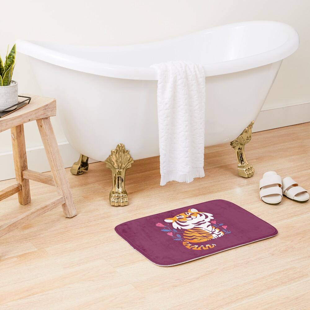 Flower Tiger Bath Mat
