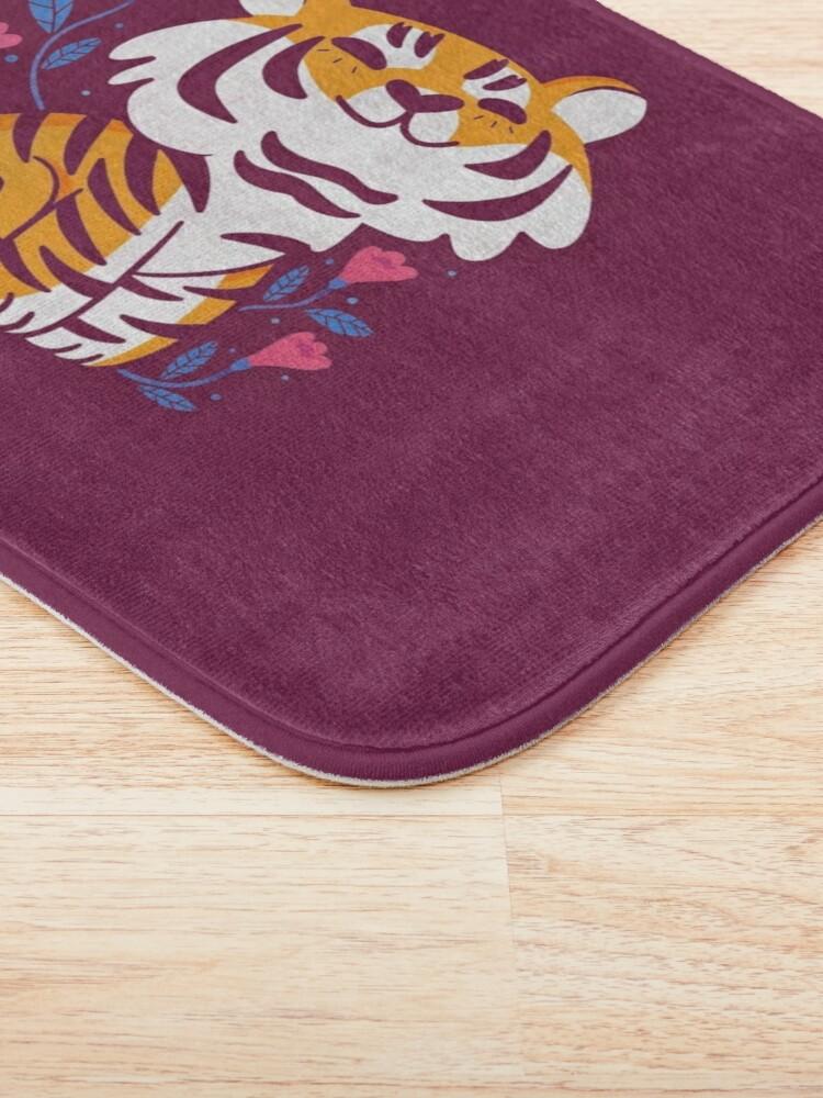 Alternate view of Flower Tiger Bath Mat