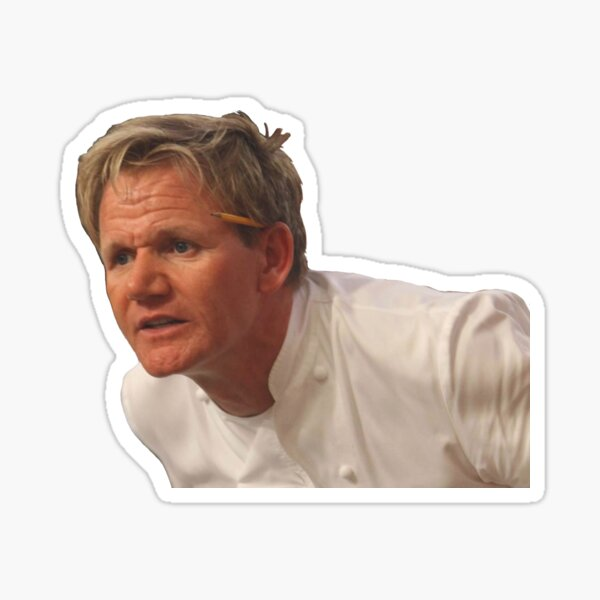 Angry Gordon Ramsay meme Sticker