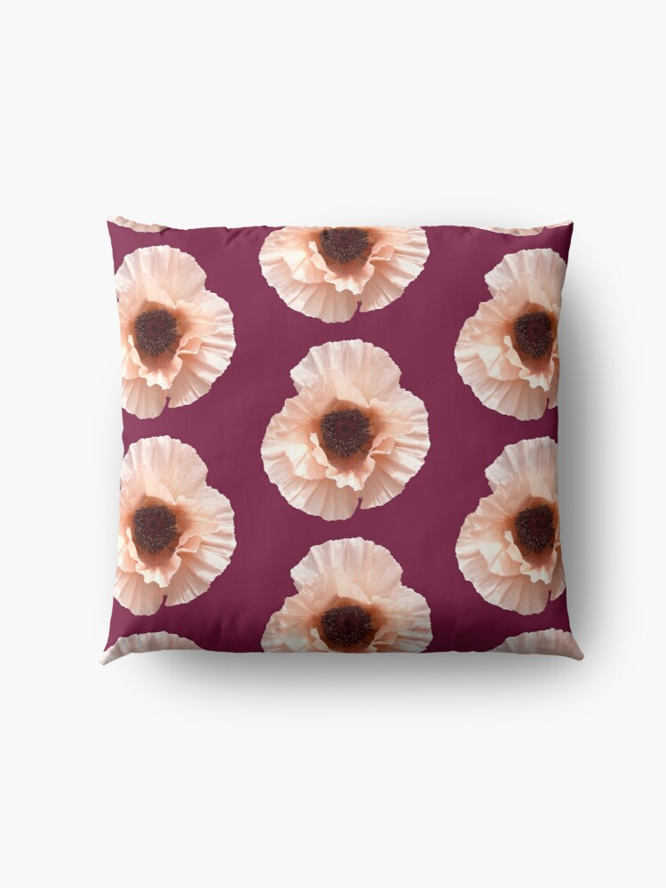 Alternate view of Oriental Poppy Floor Pillow