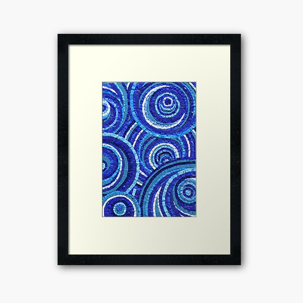 Mosaic art by Sue Kershaw Starry Eyed Framed Art Print