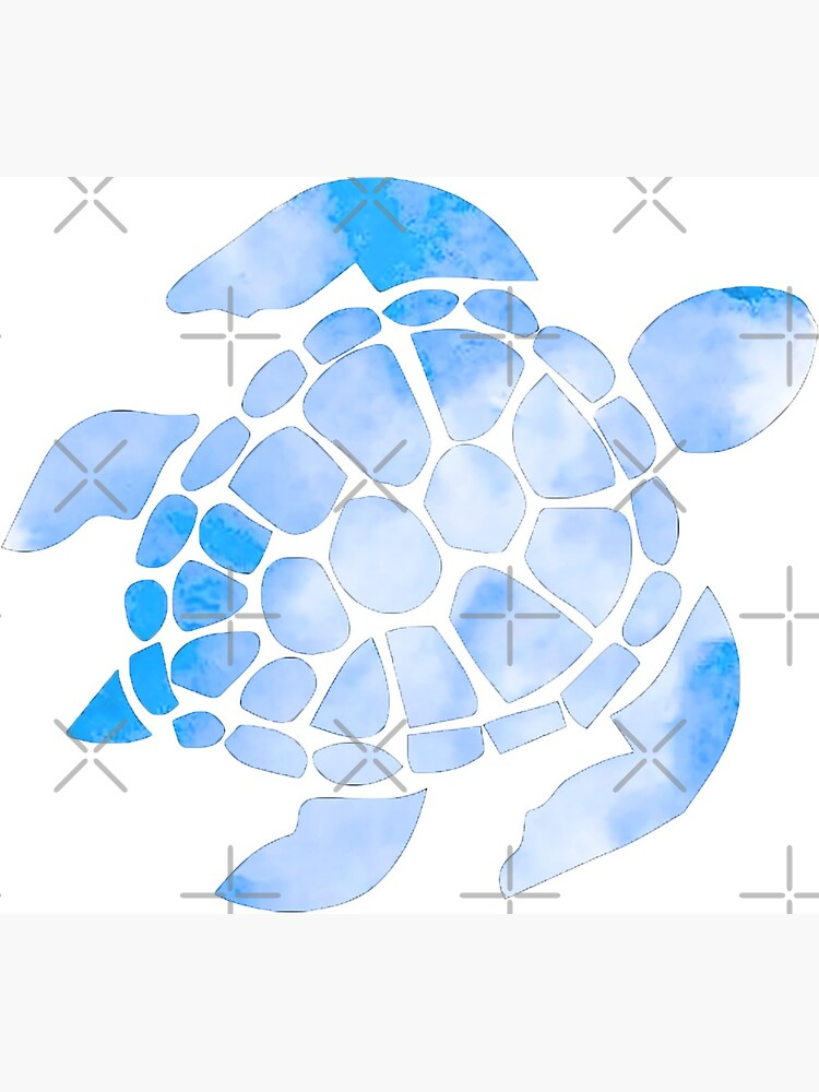 Blue Watercolor Turtle Outline Greeting Card By Creationsbykels Redbubble In very little time, through a little repetition, you'll have the perfect turtle drawing. redbubble