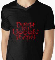 Death By Vogon Poetry Men's V-Neck T-Shirt