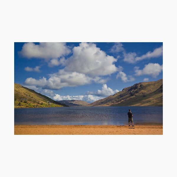 Lone Fisherman at Loch Na Fooey Galway/Mayo Ireland Photographic Print