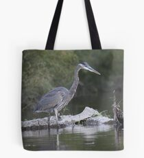 Blue Heron on the Milwaukee River Tote Bag