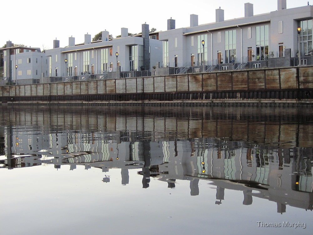 Architecture on the Milwaukee River by Thomas Murphy
