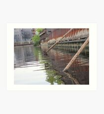 Rusted Industry and Nature Art Print