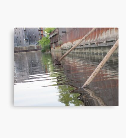 Rusted Industry and Nature Metal Print