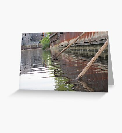Rusted Industry and Nature Greeting Card
